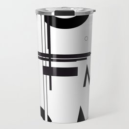 History of Art in Black and White. Suprematism Travel Mug
