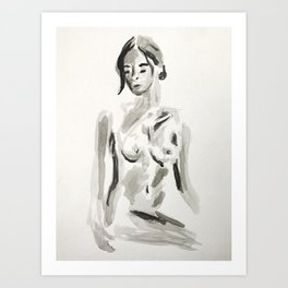 WOMAN ON CHAIR Art Print