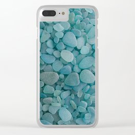 Japanese Sea Glass - Low Tide Blues I Clear iPhone Case