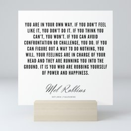 81 | Mel Robbins Quotes | 190802 Mini Art Print