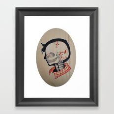 Boy Next Door - Silhouette and Anatomy Love Painting Framed Art Print