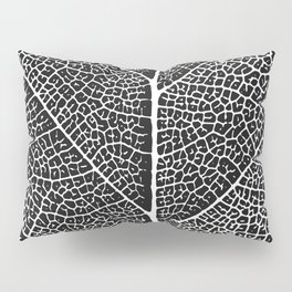 Modern abstract black white tree leave texture Pillow Sham