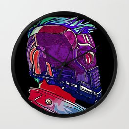 Star Lord Guardians of the Galaxy Avenger Infinity War Painting - Star-Lord Wall Clock
