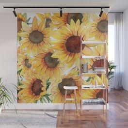 Sunflowers Bloom  Wall Mural