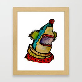 Clown Shark Framed Art Print