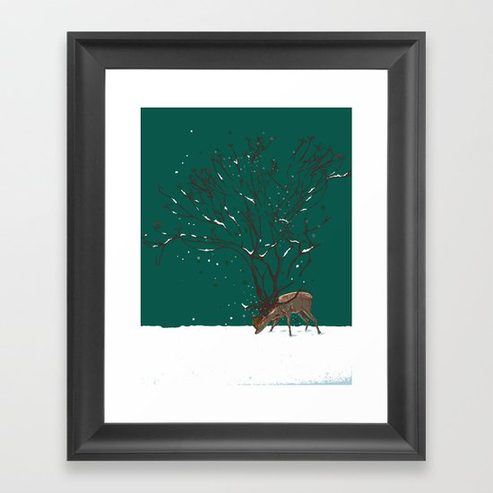 Winter Is All Over You Framed Art Print