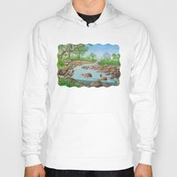 river Hoodies featuring  river  by Amy Fan