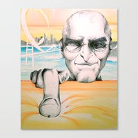 steve jobs Canvas Prints featuring Steve Jobs by Julie Roth Illustration