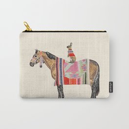Horse with hare  Carry-All Pouch