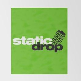 Static drop v7 HQvector Throw Blanket