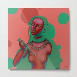 """An Alternative & Psychedelic Lucretia"" Metal Print"