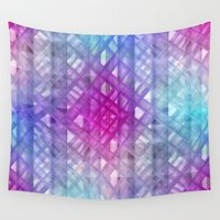 grid Wall Tapestries featuring Grid by Christine baessler