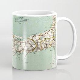 Cap Cod and Vicinity Map Coffee Mug