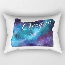 Oregon State Watercolor Galaxy Rectangular Pillow