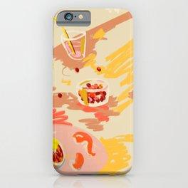 ORANGE AND PINK FRUIT iPhone Case