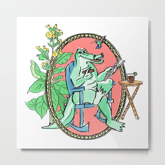 Cuban crocodile Metal Print