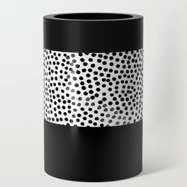 Dots and Black Can Cooler