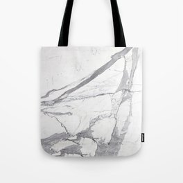 Marble White Winter  Tote Bag