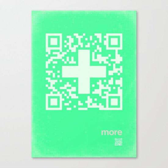 QR more Canvas Print