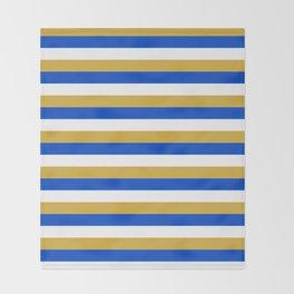 Kosovo flag stripes Throw Blanket