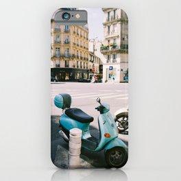 Scooter in Paris iPhone Case