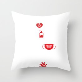 Covid19 Quarantine Nurses We Go To Work For You Please Stay Home For Us Nurse Throw Pillow