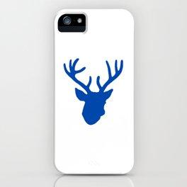 Deer Head: Blue iPhone Case