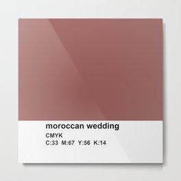 pantone, marsala, moroccan wedding, CMYK Metal Print
