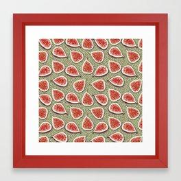 Figs Pattern Framed Art Print