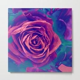 Vibrant Rose Metal Print