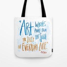 Picasso Quote Tote Bag