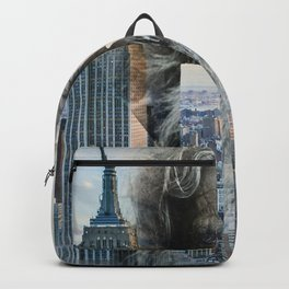 Old man in New York Backpack