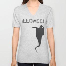 Halloween design black and white Unisex V-Neck