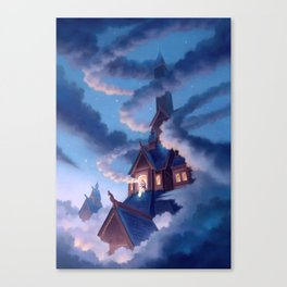Frigg, Weaver of Clouds Canvas Print