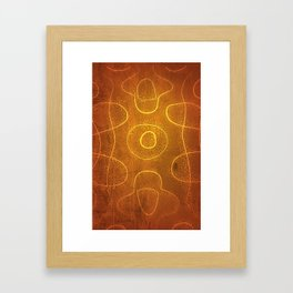 Chladni Pattern - Yellow by Spencer Gee Framed Art Print