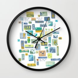 "Storyboard ""pour que demain existe encore"" Wall Clock"