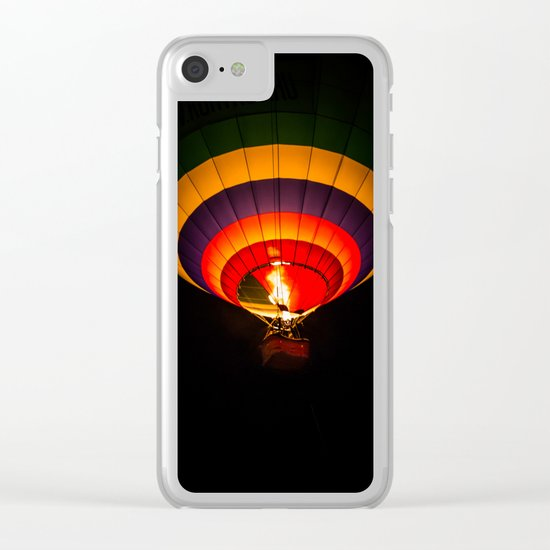 Night hot air balloon adventure Clear iPhone Case
