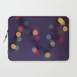Blurred background with multicolored lights of garland Laptop Sleeve