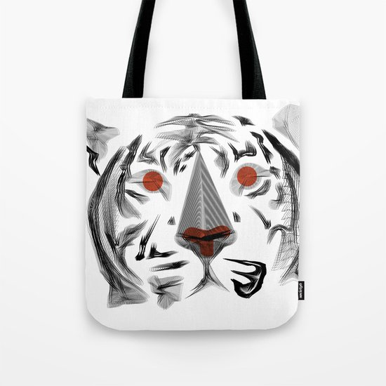 Moirè Tiger Tote Bag
