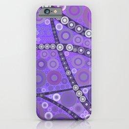 chrisy - mauve purple abstract design art print iPhone Case