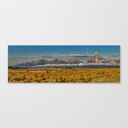 The Grand Tetons Panorama Canvas Print