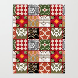 National ethnic patchwork . Poster