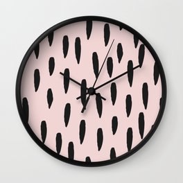 Pink with Spots Wall Clock