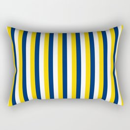 Team Colors 4... yellow, navy and white Rectangular Pillow