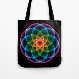 Sacred Rainbow Mandala Tote Bag