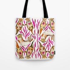 Otters – Pink Accents Tote Bag