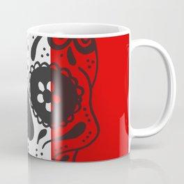 Mexican Skull With Italian Flag Coffee Mug