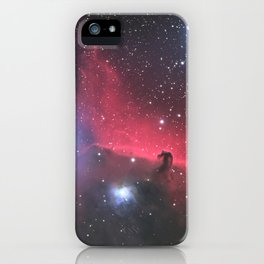 The Horsehead and Flame Neublae iPhone Case