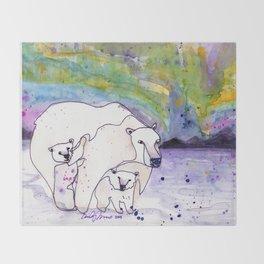 Polar Bear Mommy Throw Blanket