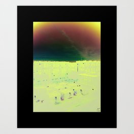 sky of suburbs Art Print